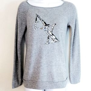 Armani Exchange wool blend gray sweater sequence